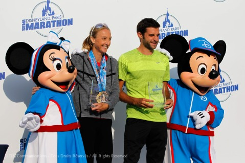 Illustration Minnie, Mickey and Paula Radcliffe during the Half Marathon Run Disney in Marne la Vallee, France on 25th September 2016 ( Photo by Jo / D87Communicatons )