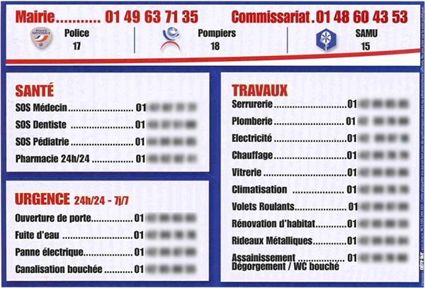 carton-publicitaire-numero-d-urgence-boite-aux-lettres