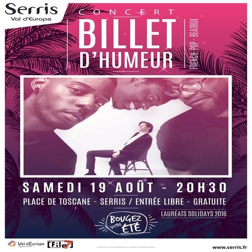 Billet d'Humeur en concert exceptionnel à Serris