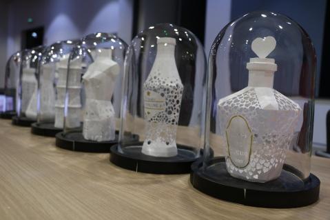 Val d'Europe Agglomération Trophée crée par Nonitt Paper Sculptures